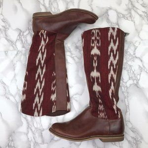 Reef Leather Red Southwestern Boots